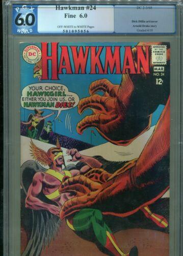 HAWKMAN #24 DC PGX 6.0 (MARCH 1968)