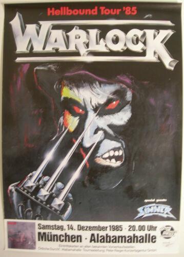 WARLOCK CONCERT POSTER 1985 HELLBOUND DORO