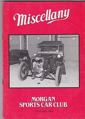 MISCELLANY MORGAN SPORTS CAR CLUB MAGAZINE JANUARY 1995 POST FREE