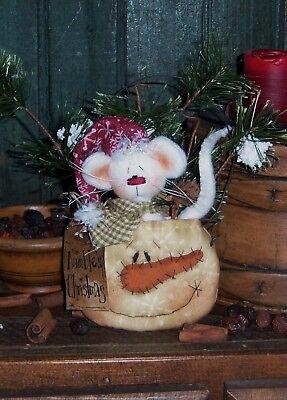 Primitive Patti's Ratties Christmas Snowman Mouse Doll Paper Pattern #363