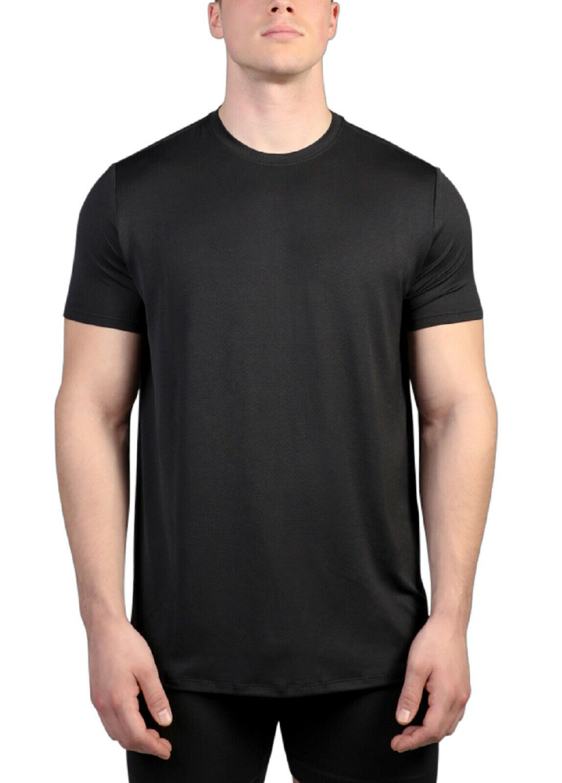 NEW ATHLETIC WORKS MEN'S MESH CREW NECK TEE 2 PK BLACK GRAY WICKING SIZE S Clothing, Shoes & Accessories