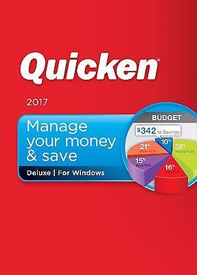Intuit Quicken Deluxe 2017 For Windows Brand New in Retail Case