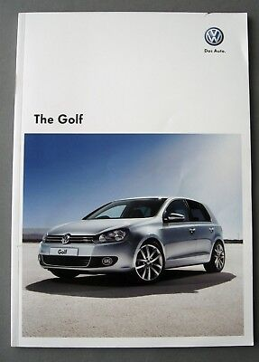 2010 Volkswagen Gold Sales Brochure VW Golf 2010/2011