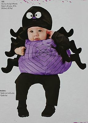 Halloween Infant Silly Spider Black & Purple Costume Size up to 24 Months NWT