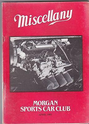 MISCELLANY MORGAN SPORTS CAR CLUB MAGAZINE APRIL 1993 POST FREE