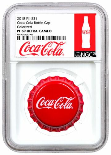 2018 Fiji Coca-Cola Bottle Cap-Shaped 6 g Silver NGC PF69 Exclusive SKU54040