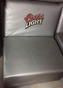 Coors Light Silver Bullet Couches and Ottoman