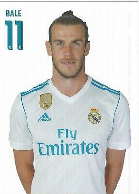 Carte Postale: Réal Madrid: Gareth Bale 11 (17-18) (carte officicelle)