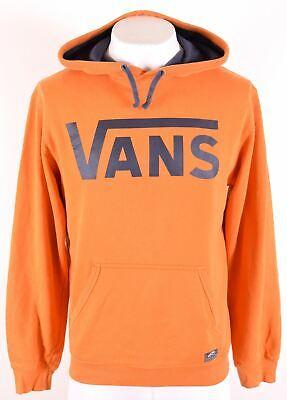 VANS Mens Hoodie Jumper Medium Orange Cotton  EW14