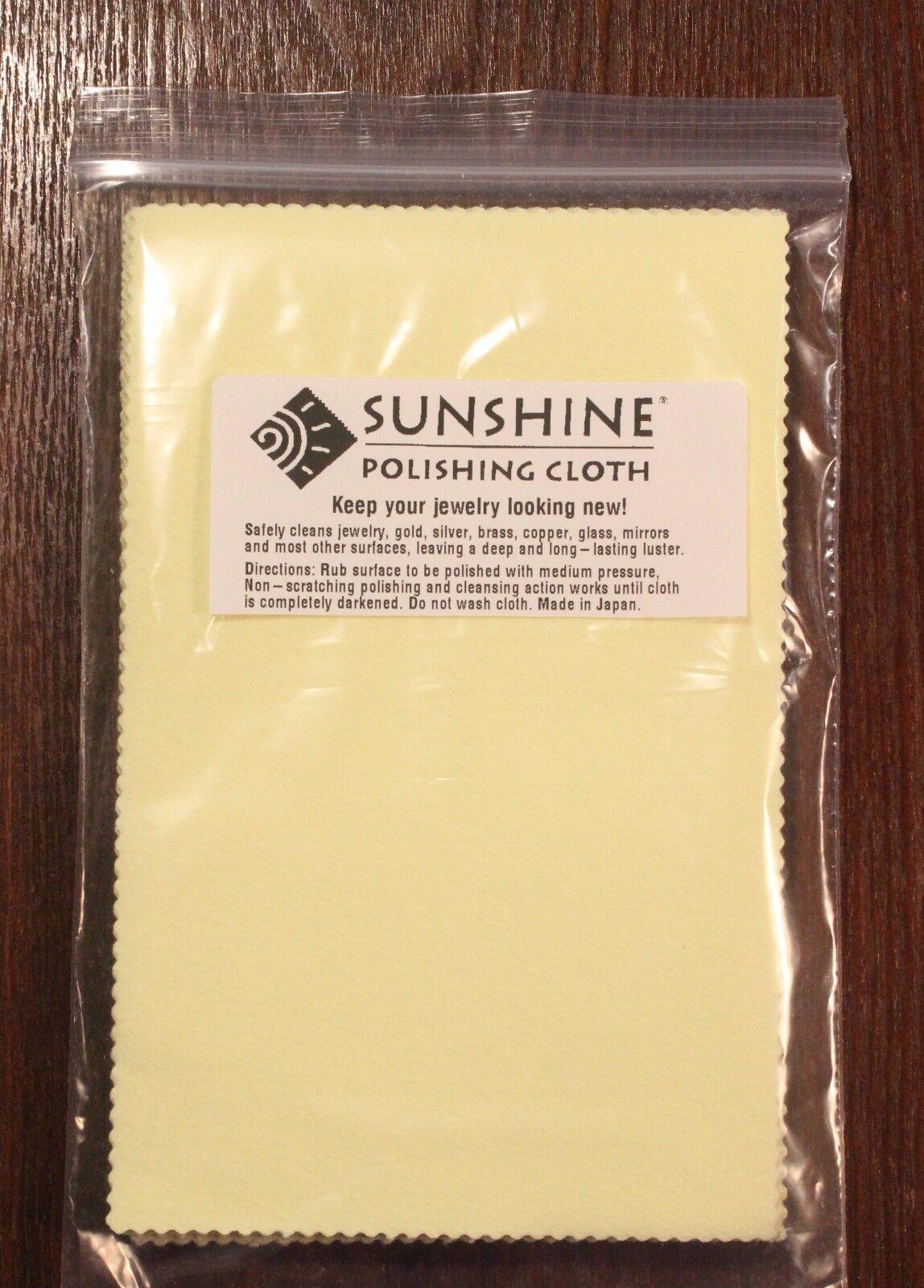 Five (5) Sunshine Polishing Cloth Jewelry Cleaner Gold Silver Brass Polisher