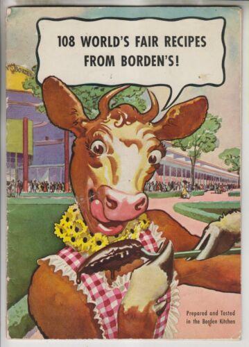 1939 BOOKLET - 108 WORLD FAIR RECIPES FROM BORDEN