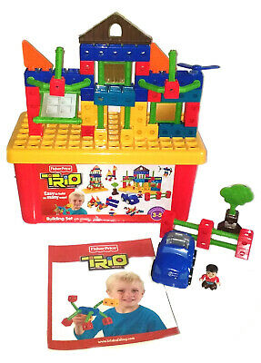 FISHER PRICE TRIO BUILDING BLOCKS SET P6838 With STORAGE BOX
