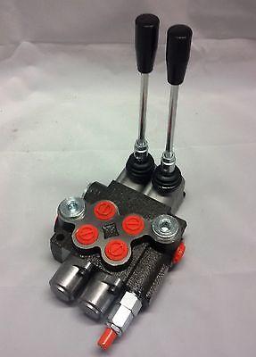 Steuerventil Hydraulikventil 02P40 2-fach Holzspalter Hydraulik Steuergerät