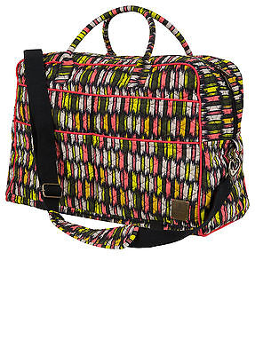 NWT PRANA Bhakti Weekender Tote Bag Black Zig Zag Yoga/Beach Bag Unisex