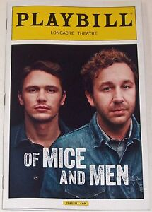 Of Mice And Men Opening Night Broadway Playbill - James Franco, Leighton Meester