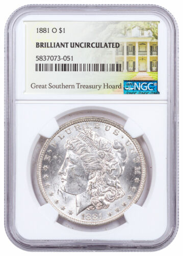 1881 O Morgan Silver Dollar Great Southern Hoard NGC BU Treasury Hoard SKU60957