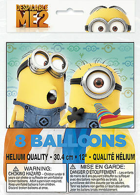 Despicable Me Party Supplies ((8ct) Despicable Me 2 Minions Birthday Latex Balloons Party Supplies)