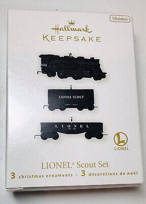 2010 Hallmark Miniature Lionel 3 Piece Scout Set B3