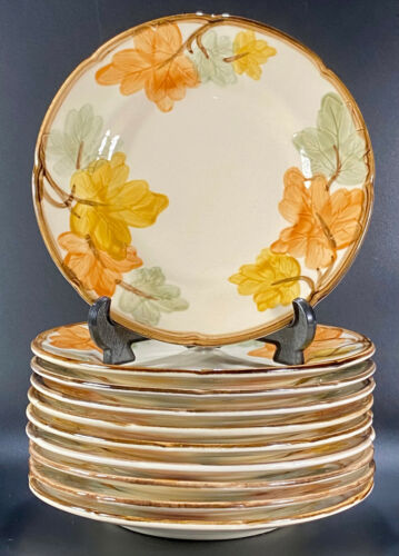 "Lot of 10 Franciscan October 8"" Salad Plates USA"