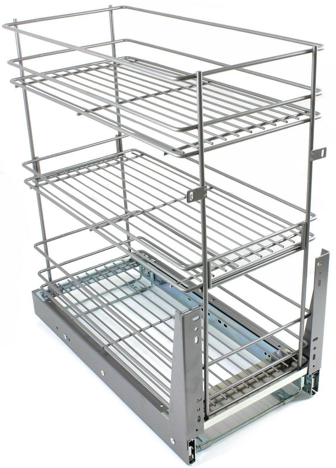 Unterschrank Schrankauszug Drahtkorb für 15 20 30cm Unterschränke Küchenschränke