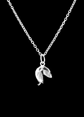 Fortune Cookie Necklace (Fortune Cookie Good Luck Best Friend Sister Mom Gift Charm)