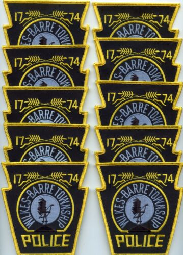 WILKES BARRE PENNSYLVANIA Patch Lot Trade Stock 10 Police Patches POLICE PATCH