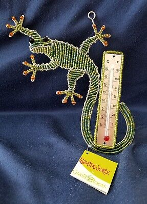 (Gecko Thermometer * Beadworx by Grass Roots Creations * New with Tags)