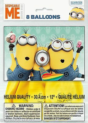 Despicable Me Birthday Party Decorations (DESPICABLE ME LATEX BALLOONS (8) ~ Birthday Party Supplies Decorations)