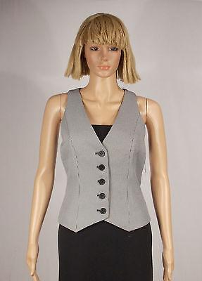 5-button Weste (Nine West Size 6 Black White Houndstooth Print Suit Separate 5 Button Vest NEW )