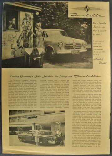 1955-1956 Borgward Isabella Sedan Combi Wagon Brochure Folder Nice Original