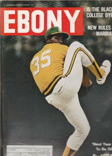 Ebony Magazine Oct 1972 Baseball Star Vida Blue