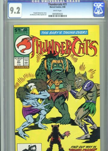 Thundercats 21 CGC 9.2 White Pages