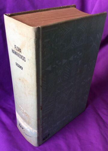 ANTIQUE HAWAIIAN BOOK FLORA HAWAIIENSIS BY OTTO DEGENER RARE 1946 4 Volume Book
