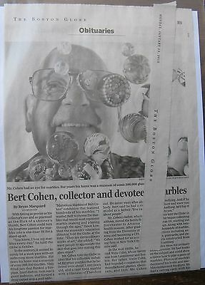 Obituary Boston Globe 1 12 2015 Bert Cohen 83 Devotee And Collector Of Marbles