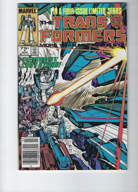 Transformers 4 Marvel Comics (Dec 1984) MEGATRON Optimus Prime