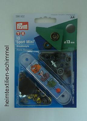 PRYM Sport Mini Druckknopf Druckknöpfe Anorak 13mm brüniert 390502