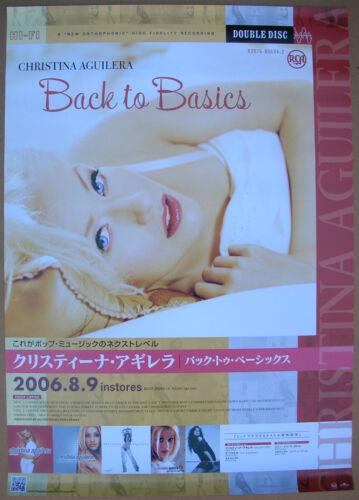 CHRISTINA AGUILERA Back To Basics 2006 Japanese Promo Poster Mint- ORIGINAL