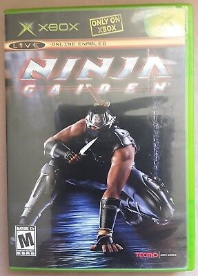Ninja Gaiden Microsoft Xbox 2004 Vintage Video Came Tecmo Game & Case NO Manual for sale  Shipping to Nigeria