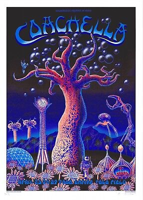 MINT Roger Waters Jack Johnson MMJ 2008 EMEK Coachella A/P Poster 43/50, used for sale  Shipping to India