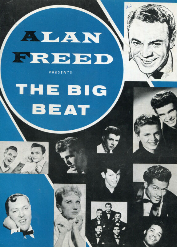 1958 Alan Freed Concert Program Chuck Berry Bo Diddley Bill Haley  3 Autographs