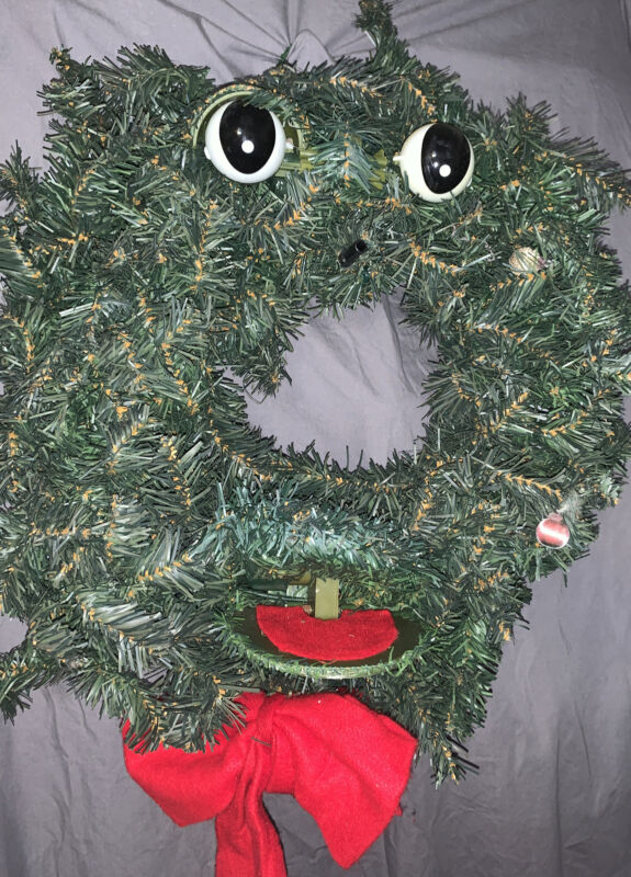 """Gemmy The Original Talking Singing Christmas Wreath large size 20"""" ISSUES"""