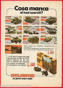 Pubblicita-Advertising-1975-ATLANTIC-Cosa-manca-ai-tuoi-eserciti