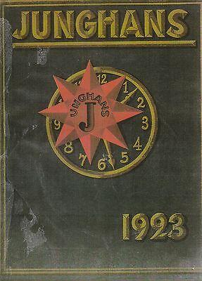 Katalognachdruck Junghans mit Preisliste 1923