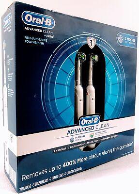 أورال-بي أدفانسد كلين مدعوم من فرشاة أسنان كهربائية من براون - عدد 2 - 069055885161