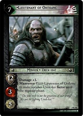LOTR TCG Lieutenant of Orthanc x2 4R158 The Two Towers Lord of the Rings MINT x2