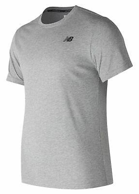 New Balance Men's Heather Tech Short Sleeve Grey
