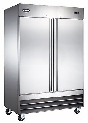Saba Commercial Refrigerator Beverage Cooler 2 Stainless Steel Doors