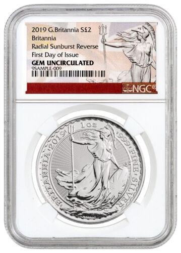 2019 Great Britain 1 oz Silver Britannia £2 Coin NGC GEM Unc FDI Excl SKU55930