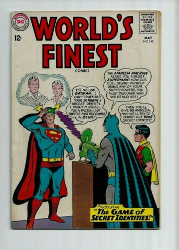 WORLD'S FINEST 149  Batman - Superman - Robin - FREE SHIPPING ORDERS OVER $50