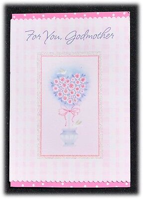 (Hallmark For You Godmother Heart Topiary Tree Wishing Love Valentine's Day Card)
